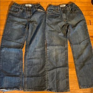 Two Pairs Boys Jeans Lot Urban Pipeline blue jeans
